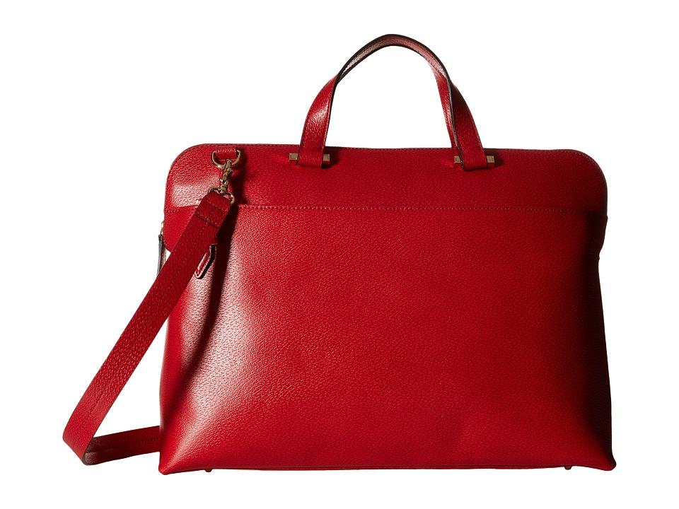 Lodis Accessories - Stephanie RFID Under Lock Key Jamie Medium Brief (Red) Briefcase Bags