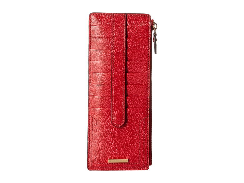 Lodis Accessories - Stephanie RFID Under Lock Key Credit Card Case w/ Zipper Pocket (Red) Credit card Wallet