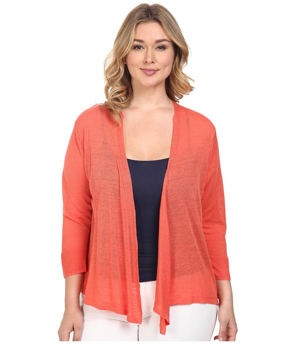 NIC+ZOE - Plus Size 4-Way Cardy (Coral Sun) Women