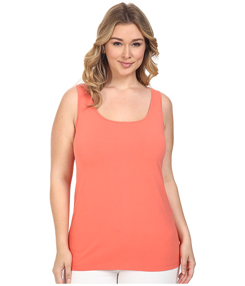 NIC+ZOE - Plus Size Perfect Scoop (Spiced Rose) Women's Sleeveless