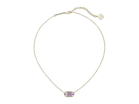 Kendra Scott Elisa Birthstone Necklace - February/Gold/Amethyst Quartz