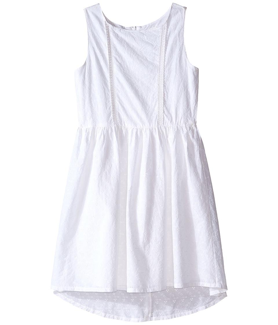 Pumpkin Patch Kids Anglaise Dress Big Kids Clean White Girls Dress