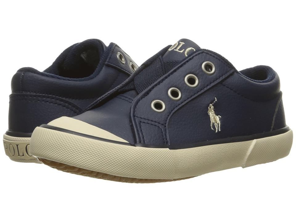 Polo Ralph Lauren Kids - Greggner (Toddler) (Navy Tumbled/Cream Pony) Boys Shoes
