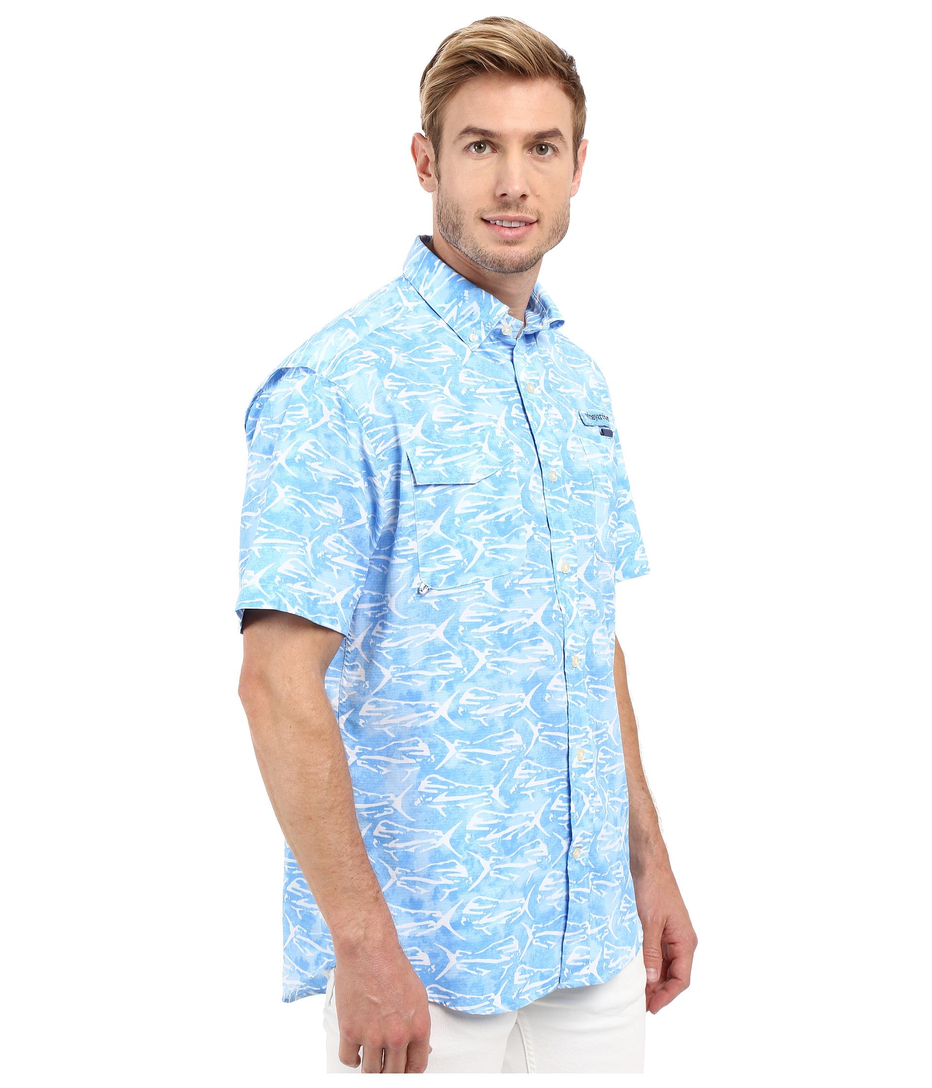 Vineyard vines dolphinfish print harbor shirt for Vineyard vines fishing shirt