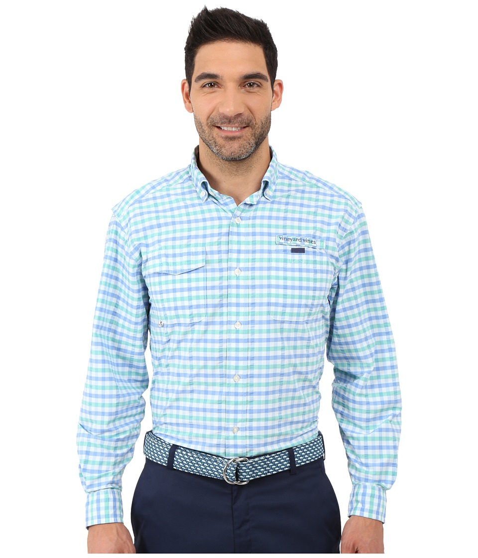 Vineyard Vines - Binnacle Harbor Shirt (Antigua Green) Men's Long Sleeve Button Up