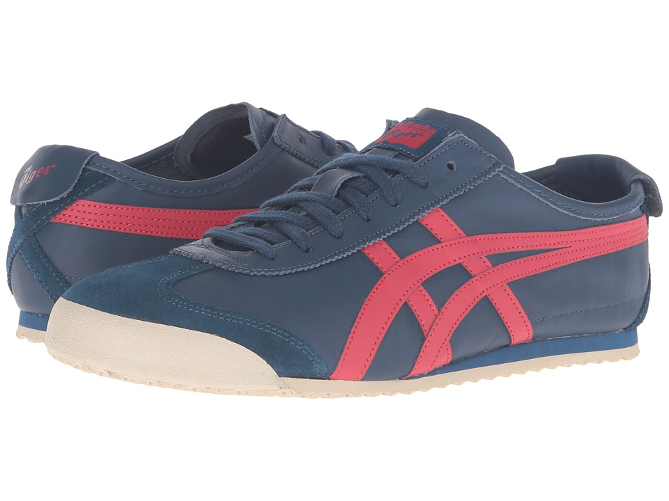 Onitsuka Tiger by Asics Mexico 66 (Poseidon/Classic Red) Lace up casual Shoes