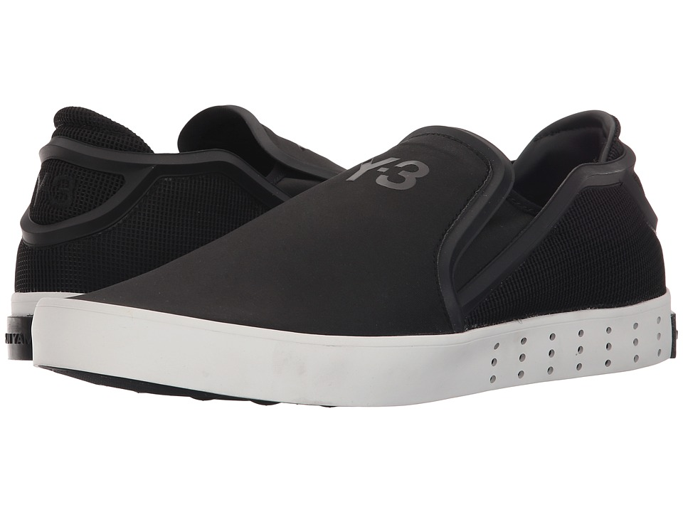 adidas Y 3 by Yohji Yamamoto Laver Slip On Core Black/Core Black/Vintage White S 15 ST Mens Slip on Shoes