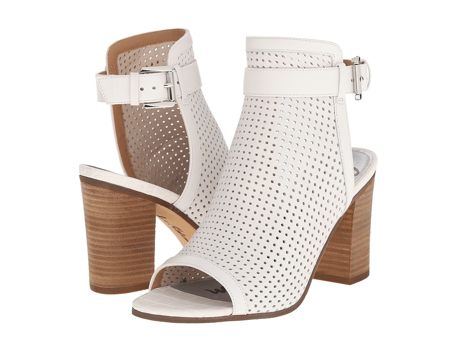 Sam Edelman Emmie Bright White Nappa Luva Leather High Heels