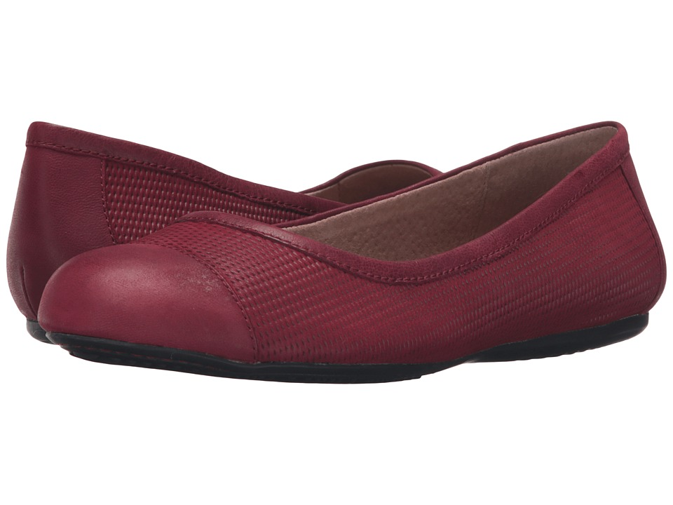 SoftWalk - Napa (Red Nubuck Embossed Leather/Leather) Women