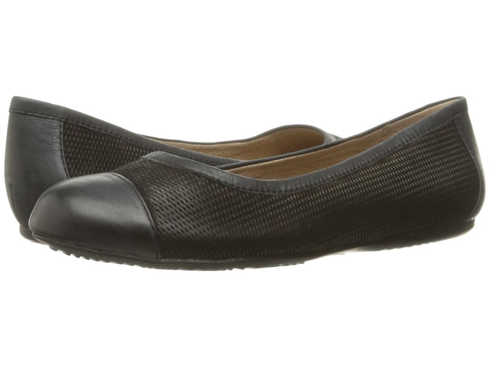 SoftWalk - Napa (Black Nubuck Embossed Leather) Women