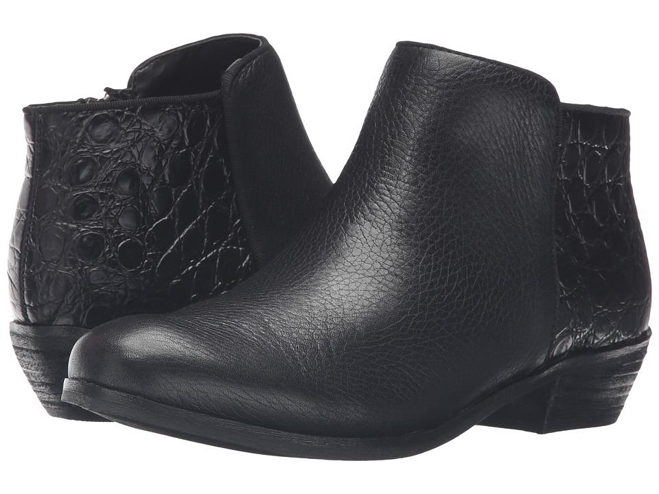 SoftWalk - Rocklin (Black Tumbled Leather/Croco Leather) Women