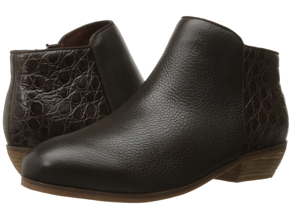 SoftWalk - Rocklin (Dark Brown Tumbled Leather/Croco Leather) Women