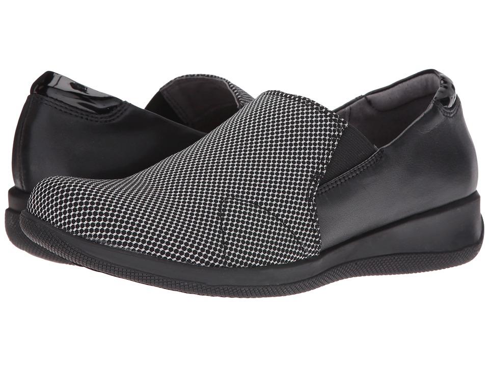 SoftWalk Tilton (Black Stretch/White Smooth Leather/Patent) Women