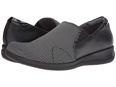 SoftWalk Tilton - Black Stretch/White Smooth Leather/Patent