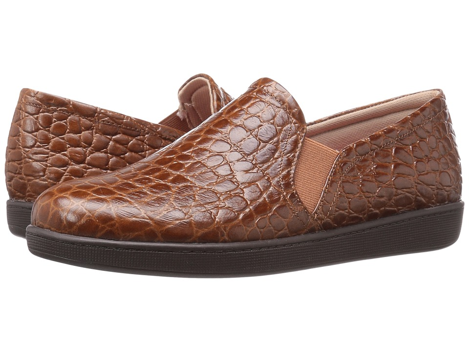 Trotters Americana (Cognac Croco Leather) Women