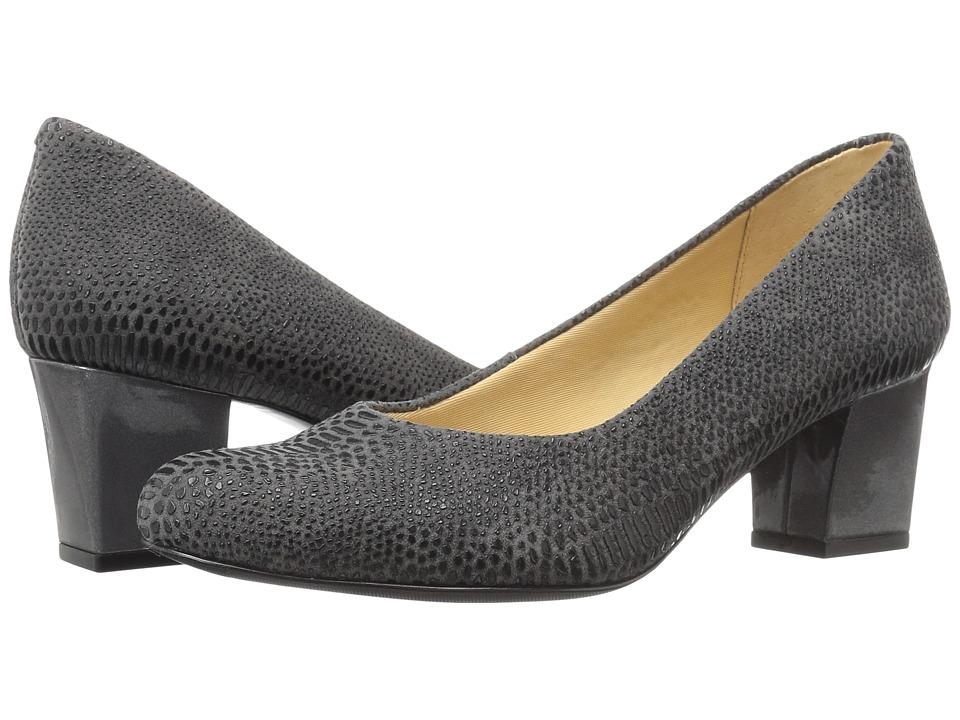 Trotters - Candela (Dark Grey Raised Lizard) High Heels