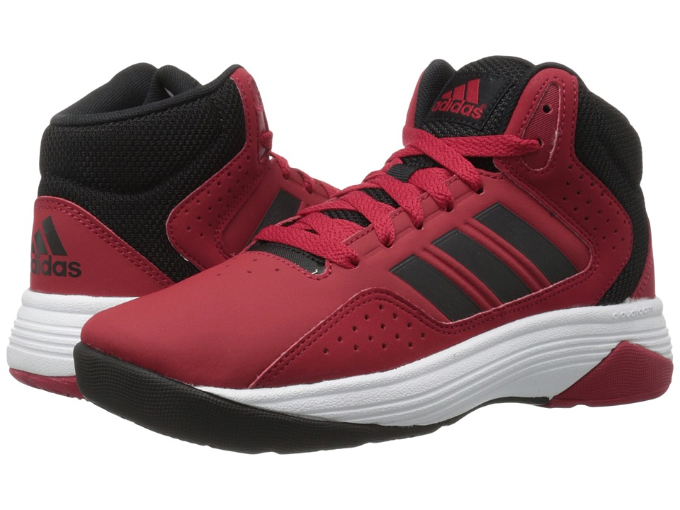 adidas Kids Cloudfoam Ilation (Little Kid/Big Kid) (Power Red/Black/White Leather) Boys Shoes