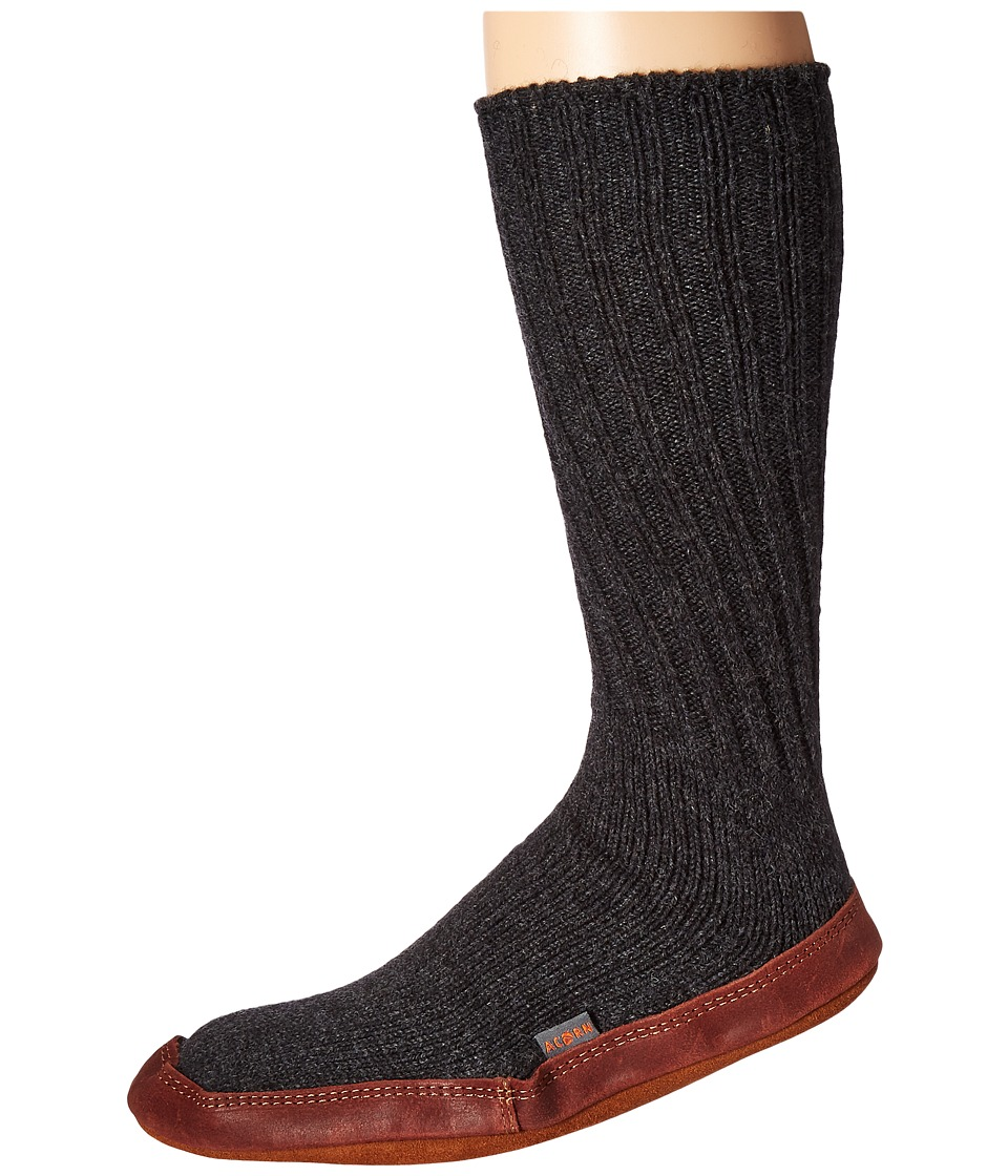 Acorn - Slipper Sock (Charcoal Ragg Wool) Shoes
