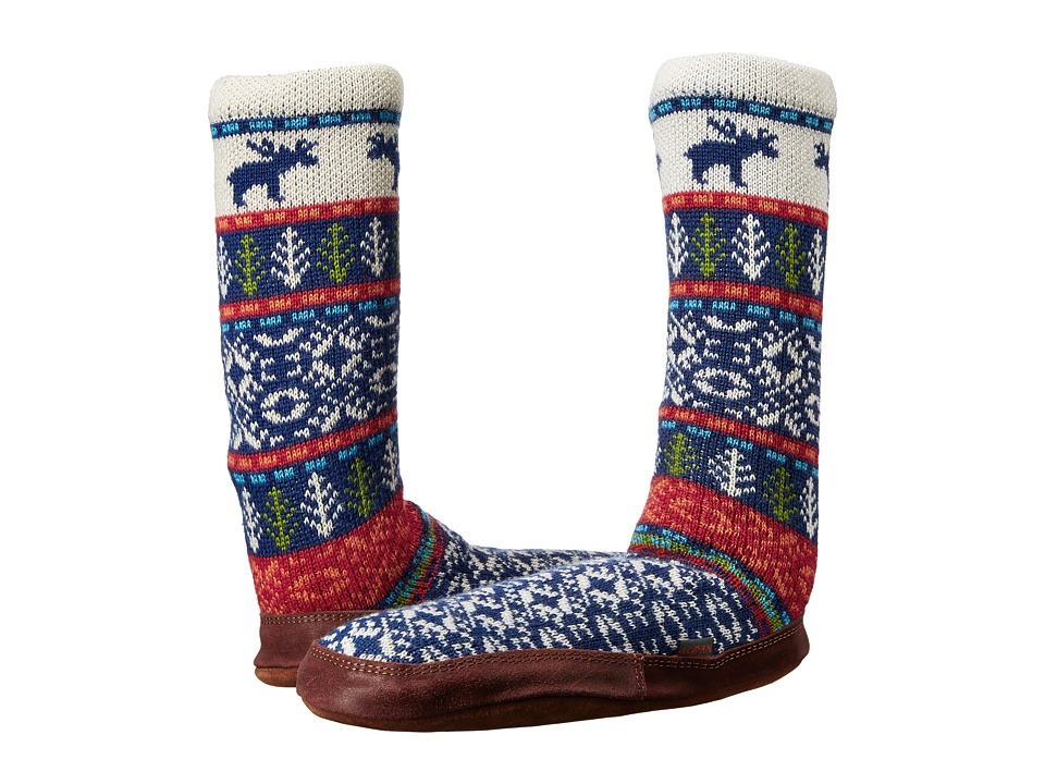 Acorn Slipper Sock (Maine Woods Jacquard) Shoes
