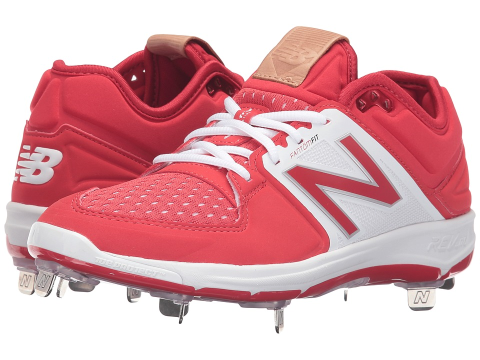 New Balance - L3000v3 (Red/White) Mens Cleated Shoes