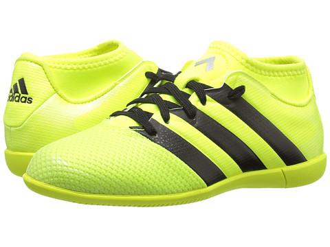 adidas Kids Ace 16.3 Primemesh IN Soccer (Little Kid/Big Kid) - Solar Yellow/Black/Silver Metallic
