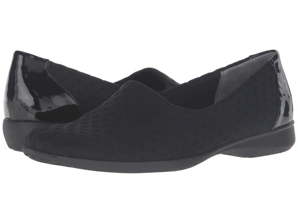 Trotters - Jake (Black Stretch/Patent Leather) Women