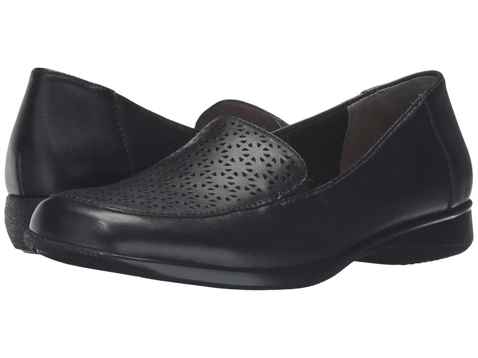 Trotters - Jenn Laser (Black Soft Nappa Leather/Patent) Women