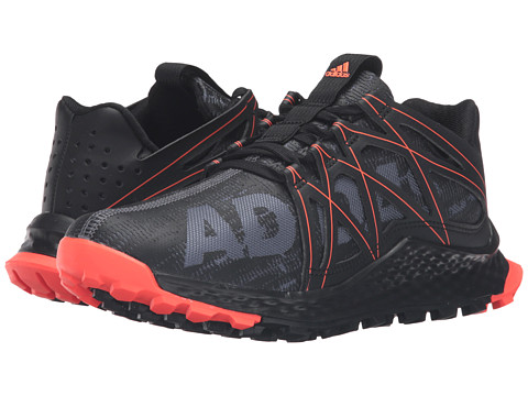 adidas Kids Vigor Bounce (Big Kid) - Dark Grey/Black/Solar Red