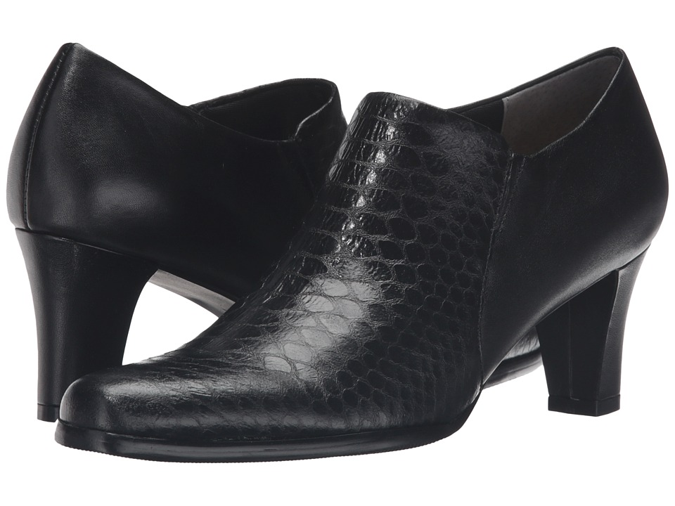 Trotters - Jolie (Black Metal Glazed Snake/Soft Nappa Leather)