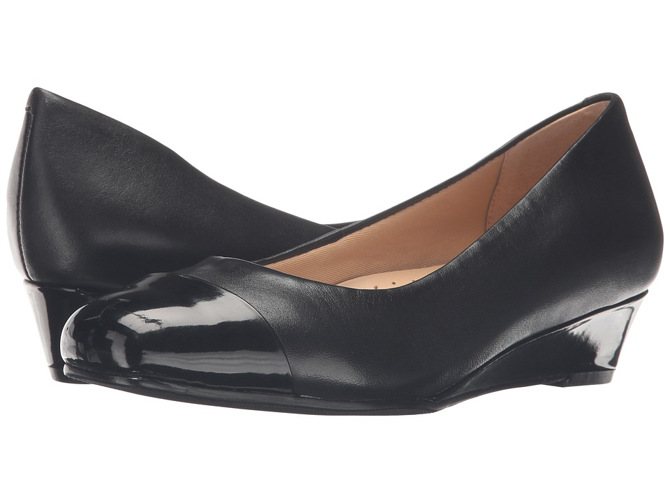 Trotters - Langley (Black Soft Nappa Leather/Patent) Women