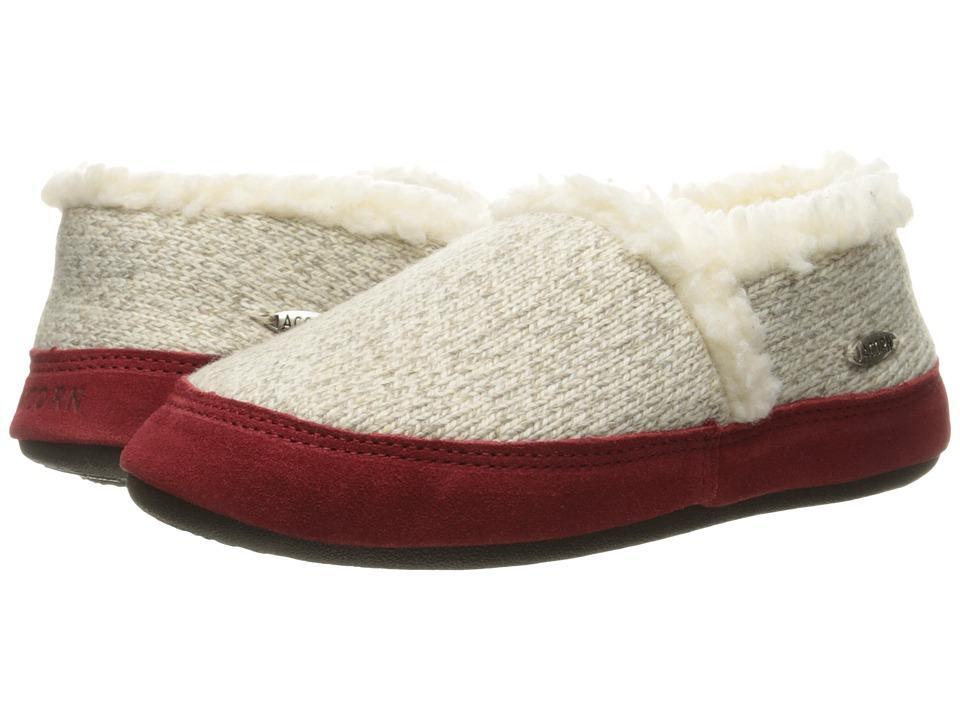 Acorn Moc Ragg (Grey Ragg Wool) Slippers