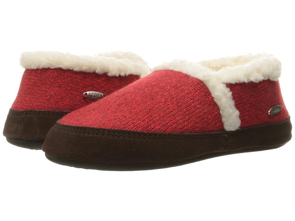 Acorn Moc Ragg (Red Ragg Wool) Slippers