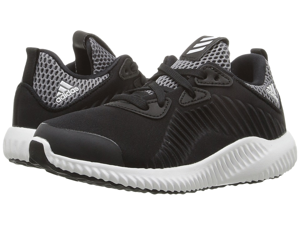 adidas Kids Alpha Bounce (Little Kid) (Core Black/Footwear White/Onix) Boys Shoes