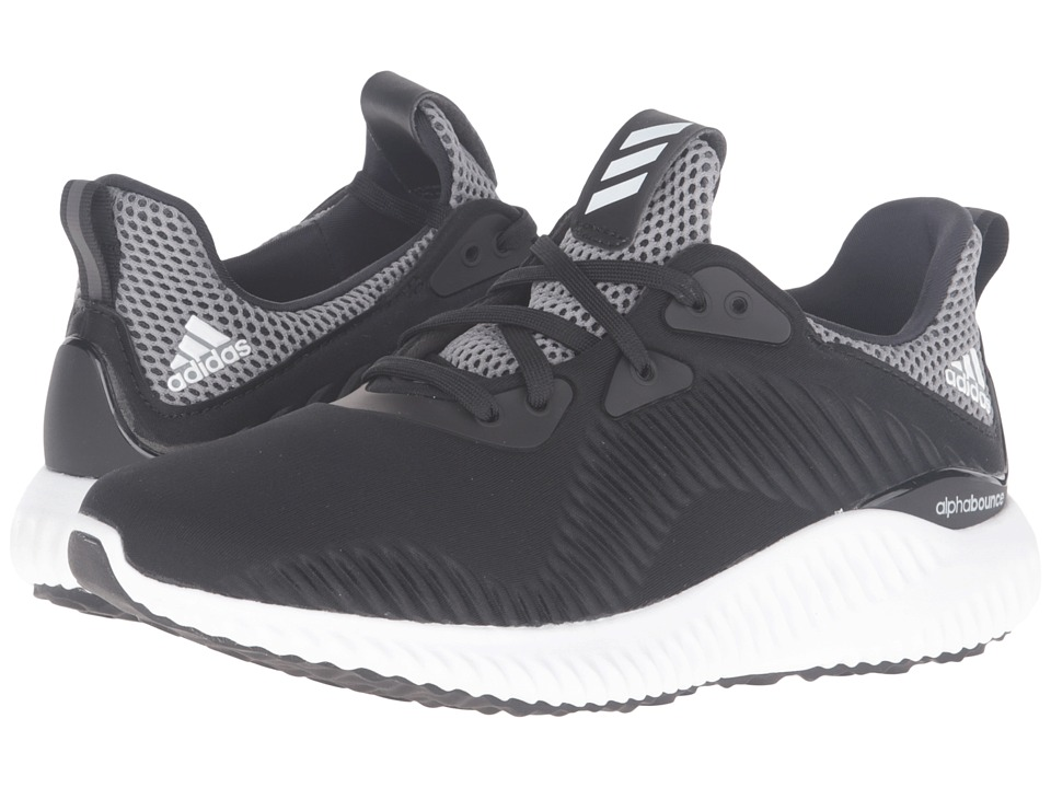 adidas Kids Alpha Bounce (Big Kid) (Core Black/Footwear White/Onix) Boys Shoes