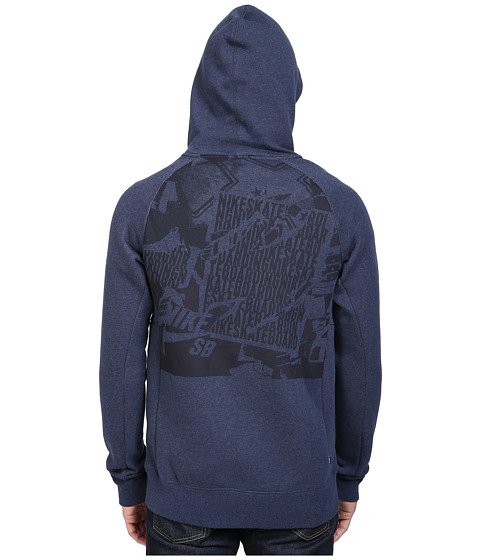 nike sb sb icon ripped pullover hoodie at. Black Bedroom Furniture Sets. Home Design Ideas