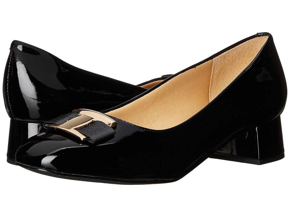 Trotters - Louise (Black Patent Leather) Women's Shoes