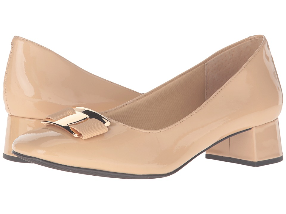 Trotters - Louise (Nude Patent Leather) Womens Shoes