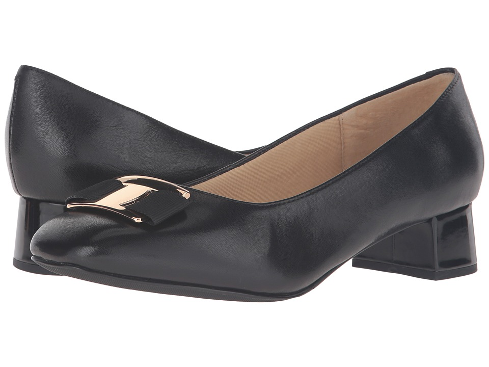 Trotters Louise (Black Glazed Kid Leather) Women's Shoes
