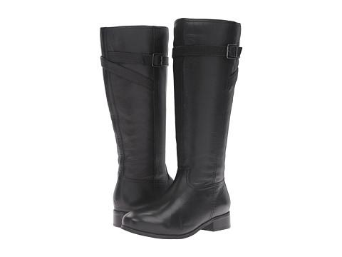 Trotters Lyra - Black Veg Tumbled Leather