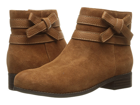 Trotters Luxury - Tan Cow Suede/Cognac Tumbled