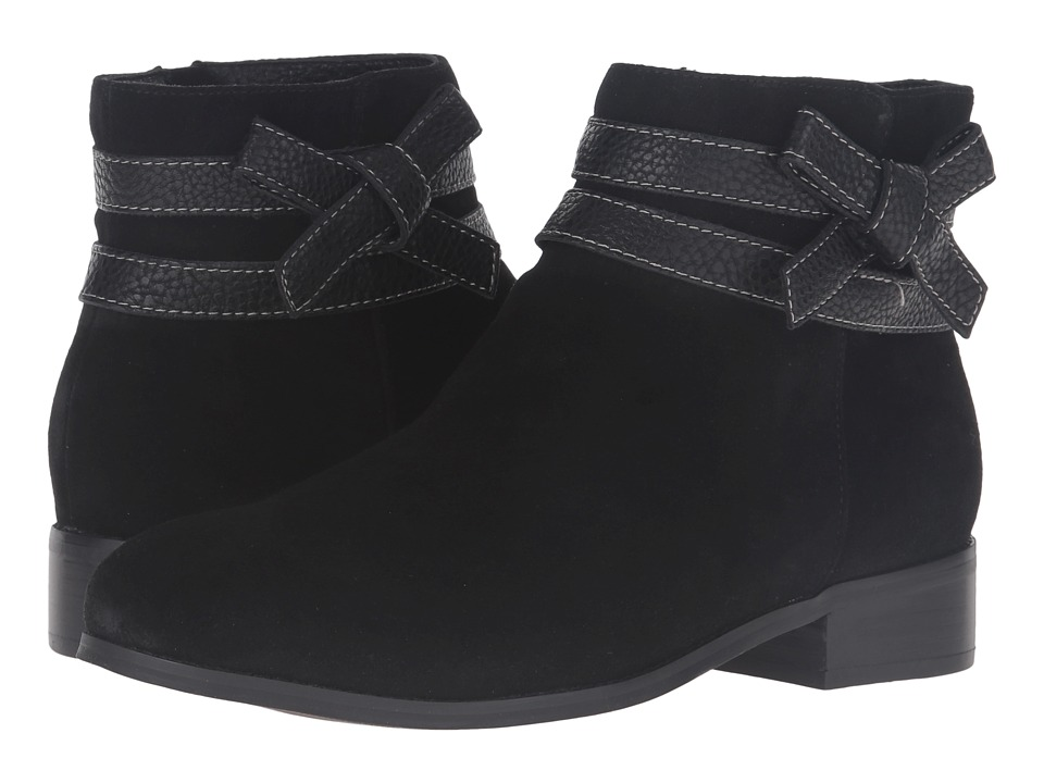 Trotters - Luxury (Black Cow Suede/Tumbled) Women