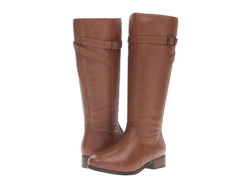 Trotters - Lyra (Cognac Veg Tumbled Leather) Womens Boots