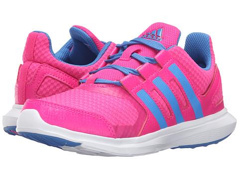 adidas Kids Hyperfast 2.0 (Little Kid/Big Kid) - Shock Pink/Ray Blue/White