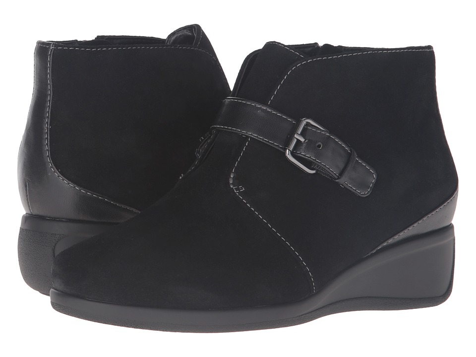 Trotters - Mindy (Black Cow Suede Leather) Women