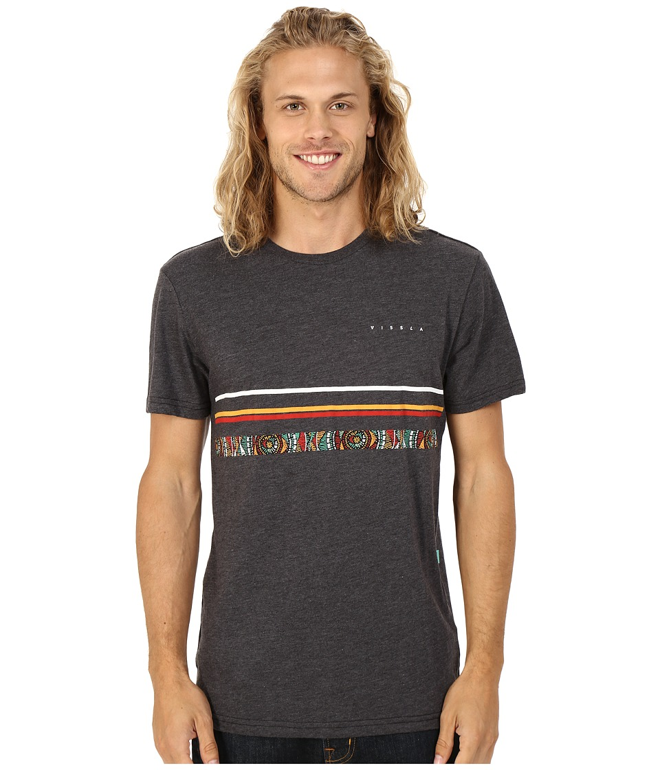 VISSLA Coffin Coast Heathered Tee Black Heather Mens T Shirt