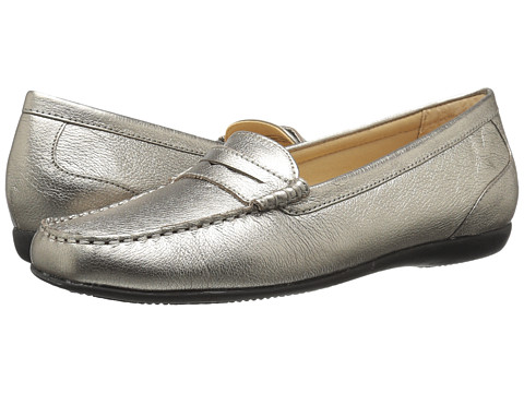 Trotters Staci - Pewter Metallic Tumbled Leather