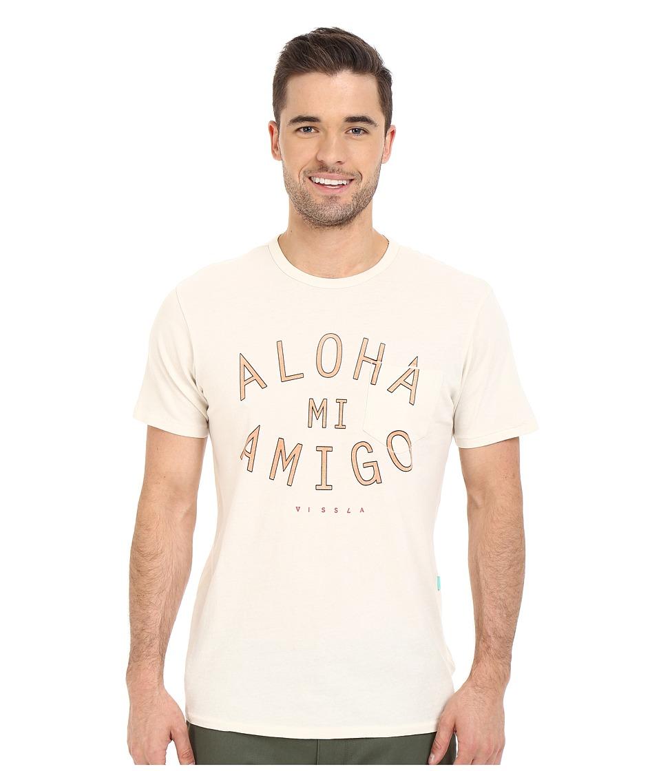 VISSLA Arches Aloha Vintage Wash Pocket Tee Bone Mens T Shirt