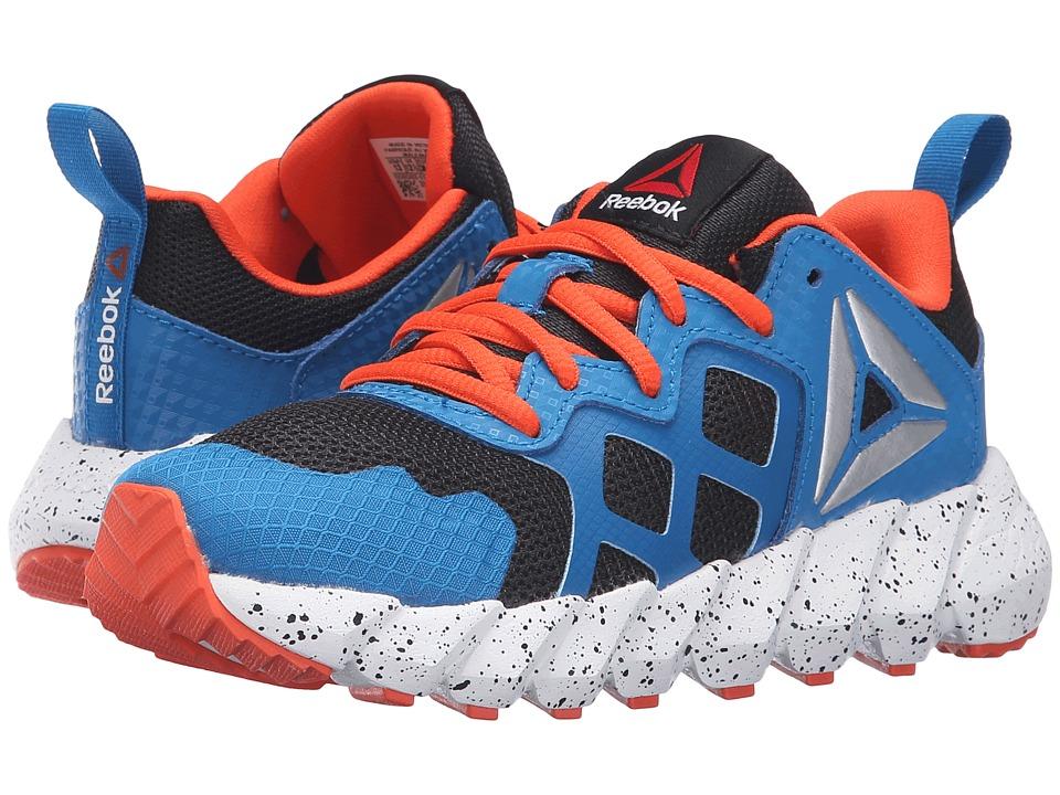 Reebok Kids - Exocage Athletic (Little Kid) (Black/Instinct Blue/Flux Orange/White) Boys Shoes