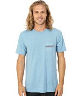 VISSLA - Drain Pipes Heathered Short Sleeve Pocket Crew Top