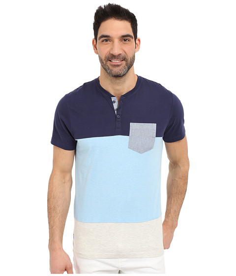 U.S. POLO ASSN. Wide Stripe Pocket Henley T-Shirt